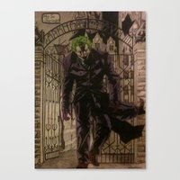 joker Canvas Prints featuring joker by DeMoose_Art
