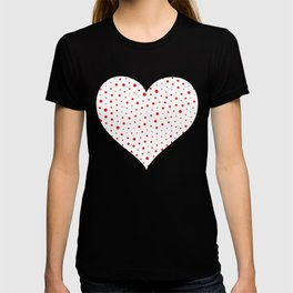 Elegant Modern Polka Dots -Red- T-shirt