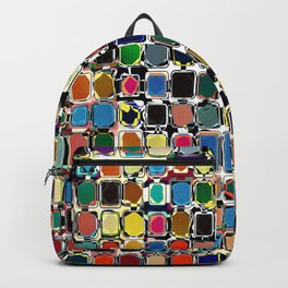 Colorful Rectangles With Texture Backpack