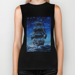 Black Pearl Starry Night Biker Tank