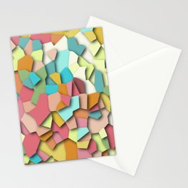 mosaic chaos Stationery Cards