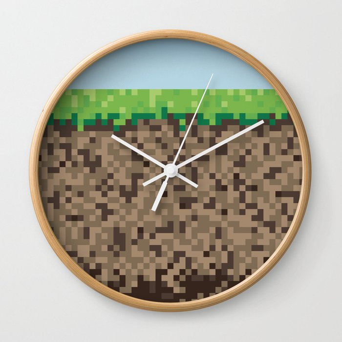Minecraft Block Wall Clock By Scottcolemandesign Society6
