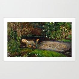 Ophelia, John Everett Millais Art Print