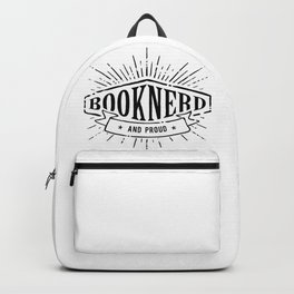 Booknerd and Proud Black Backpack