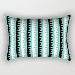 Geometric Pattern #190 (teal zigzag) Rectangular Pillow