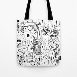 Antique Magic Starter Pack Black and White Tote Bag