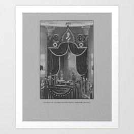 President Abraham Lincoln Lying In State Art Print