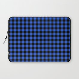 Classic Royal Blue Country Cottage Summer Buffalo Plaid Laptop Sleeve