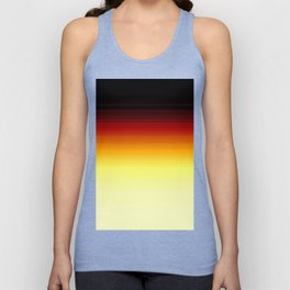 Yellow Brown Ombre Unisex Tank Top