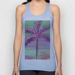 wispy palm tree euphoric sky Unisex Tank Top