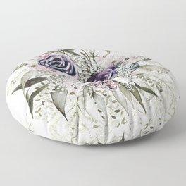 Purple Bouquet Floor Pillow