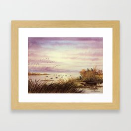Duck Hunting Companions Framed Art Print