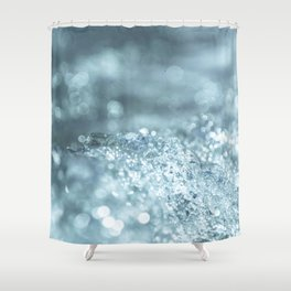 Sparkling Blue Ice Shower Curtain