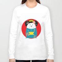 geisha Long Sleeve T-shirts featuring Geisha by EinarOux