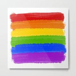 Rainbow Pride Flag Metal Print