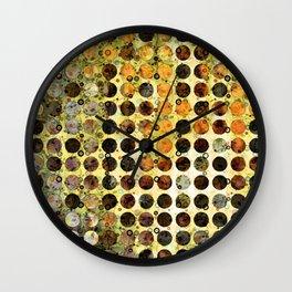 MELANGE OF YELLOW OCKER and BROWN Wall Clock