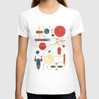 stickers T-shirts featuring Space Odyssey by Tracie Andrews