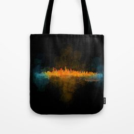 Vancouver Canada City Skyline Hq v04 dark Tote Bag
