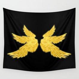 Golden Archangel Wings Wall Tapestry
