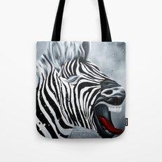 Cheeky Zebra Tote Bag