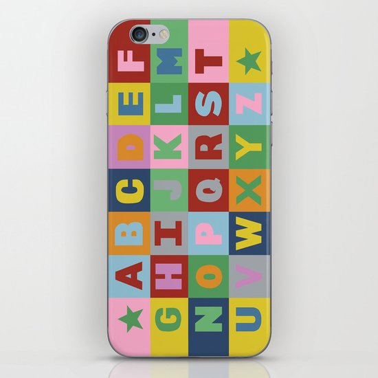 Alphabet iPhone & iPod Skin