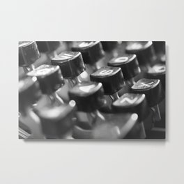 Retro typewriter  Metal Print