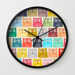 summer cats Wall Clock