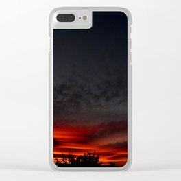 Red Sunset Clear iPhone Case