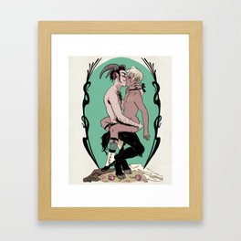 Satyr and Swan Framed Art Print