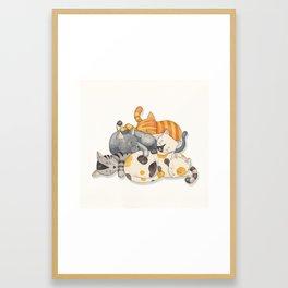 Cat Nap (Siesta Time) Framed Art Print
