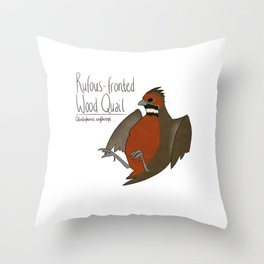 Rufous-fronted Wood Quail Throw Pillow