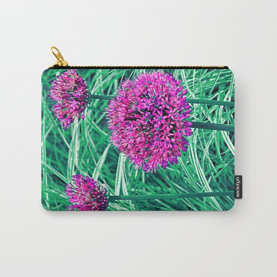 Purple ball flowers Carry-All Pouch