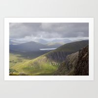 Billowing clouds over the Buichaille Art Print