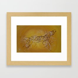 Horse Moving Lines Framed Art Print
