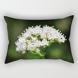 Tiny white garden flowers Rectangular Pillow
