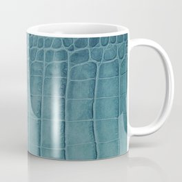 Croco leather effect - Aqua blue Coffee Mug