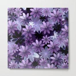 Ultra Violet Anemones of Tillandsia Metal Print