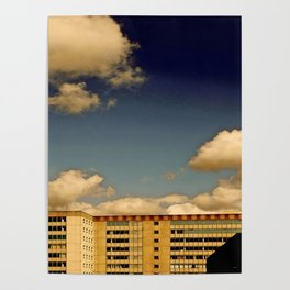 Office block and clouds Poster