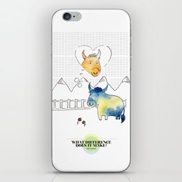 LOVE IN OUR OPINION - WHAT DIFFERENCE DOES IT MAKE? iPhone Skin