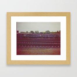 Railway wagons. Russia. Framed Art Print