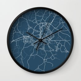 Colchester Blueprint Street Map, Colchester Colour Map Prints Wall Clock