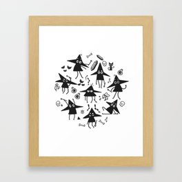 Magical Little Witches Framed Art Print