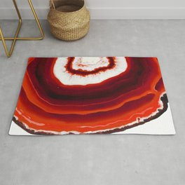 Red Agate Geode slice Rug