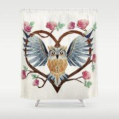 lovely owl Shower Curtain