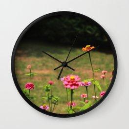 Flower Photography by Martine Destin Wall Clock