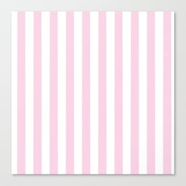 Pastel pink white modern geometric stripes Canvas Print