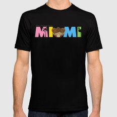 Miami Black Mens Fitted Tee MEDIUM