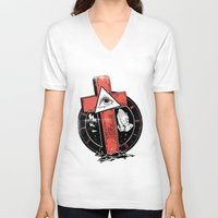 religion V-neck T-shirts featuring Religion by Tshirt-Factory