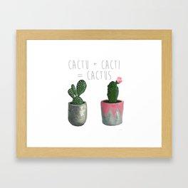 Cactu + Cacti = Cactus Framed Art Print