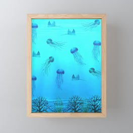 Deep Sea Framed Mini Art Print